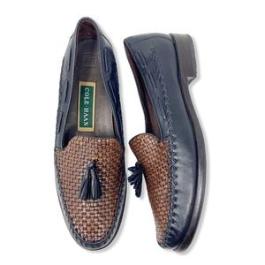 Cole Haan Loafers Woven Tassel Leather Vintage 7